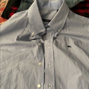 Burberry Blue Striped Button Down Shirt L
